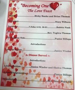 """The Love Feast"" Banquet 2017"